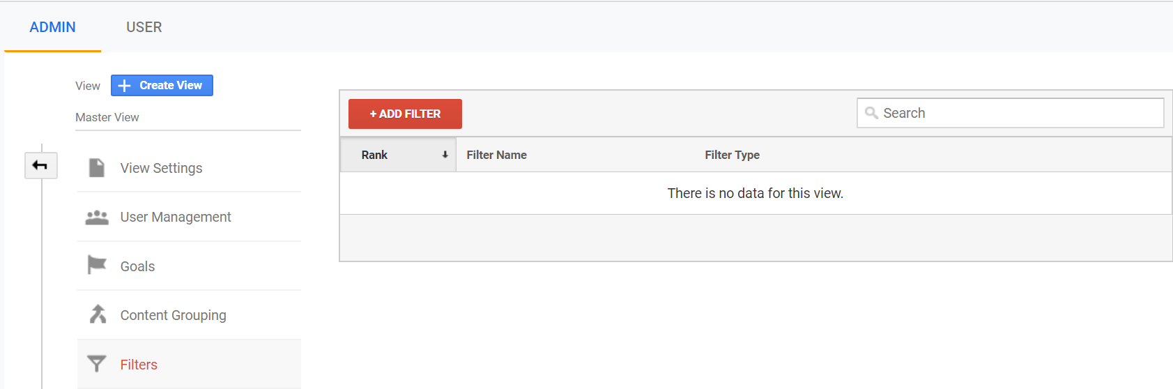 How to add a google analytics filte